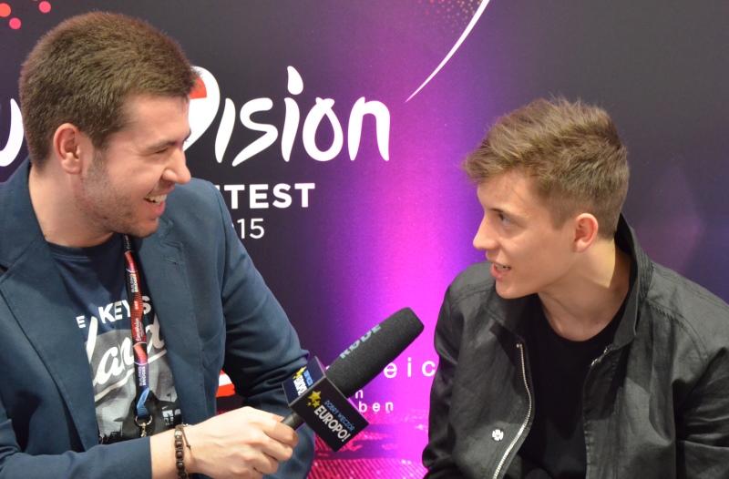 Rozmowa Macieja Mazańskiego z reprezentantem Belgii w Eurowizji 2015