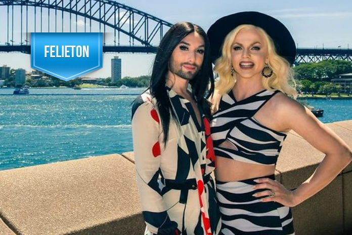 Conchita i Courtney Act (fot. SBS)