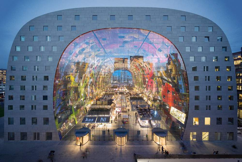 Markthall w Rotterdamie