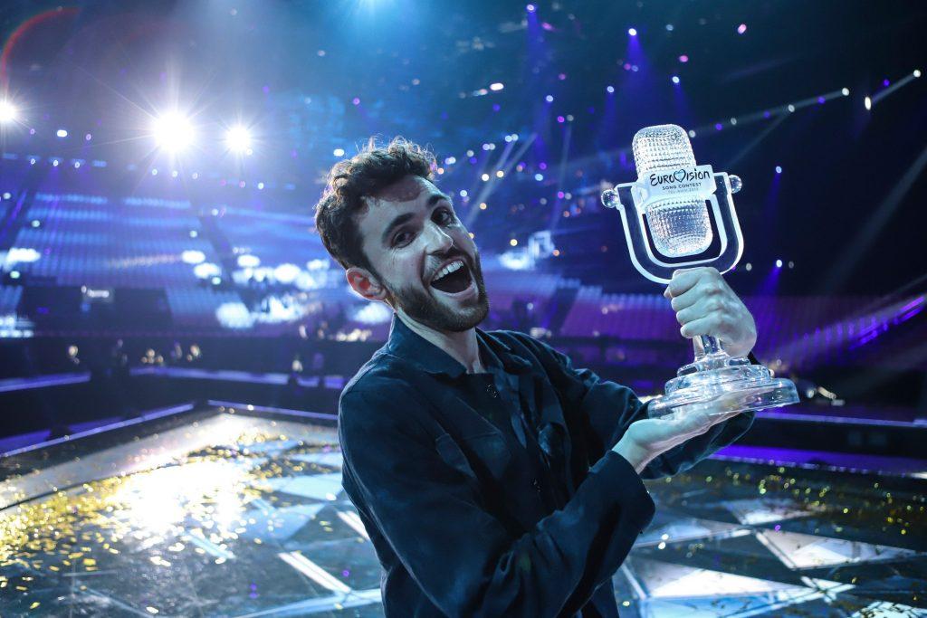 Duncan Laurence po zwycięstwie w Tel Awiwie, fot. EBU
