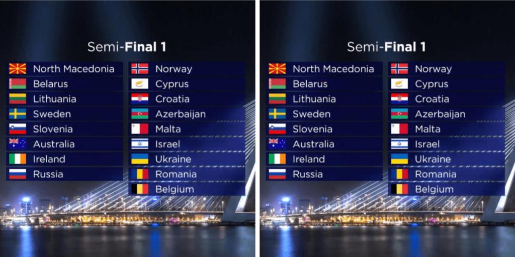 Eurowizja 2021, półfinały