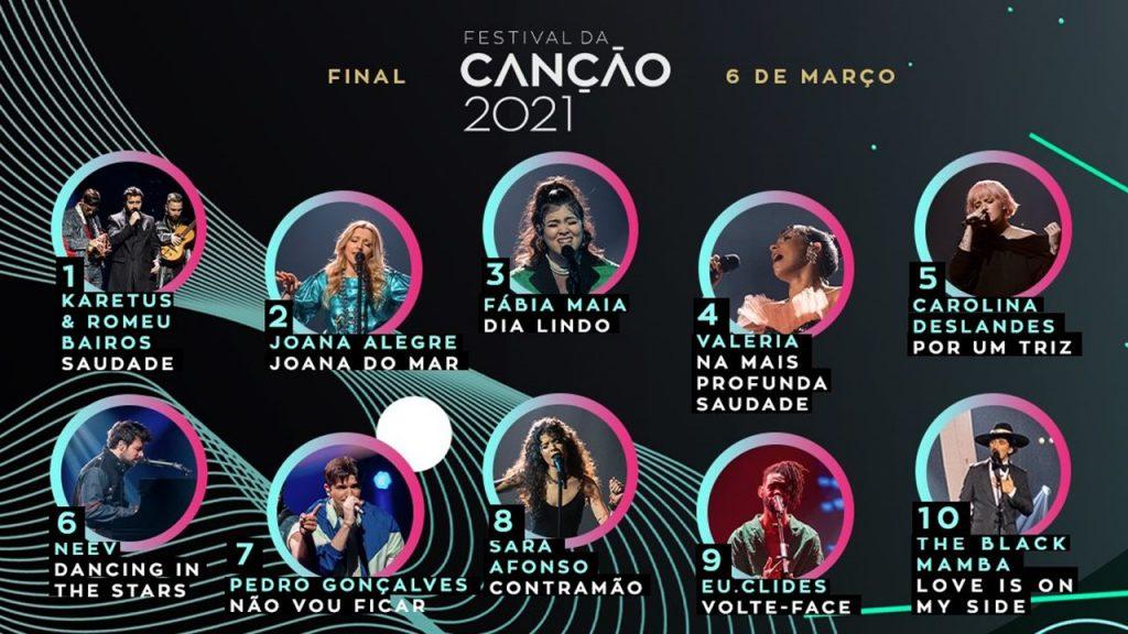 Finaliści Festival da Canção walczący o bilet na Eurowizję 2021 w barwach Portugalii, fot. RTP