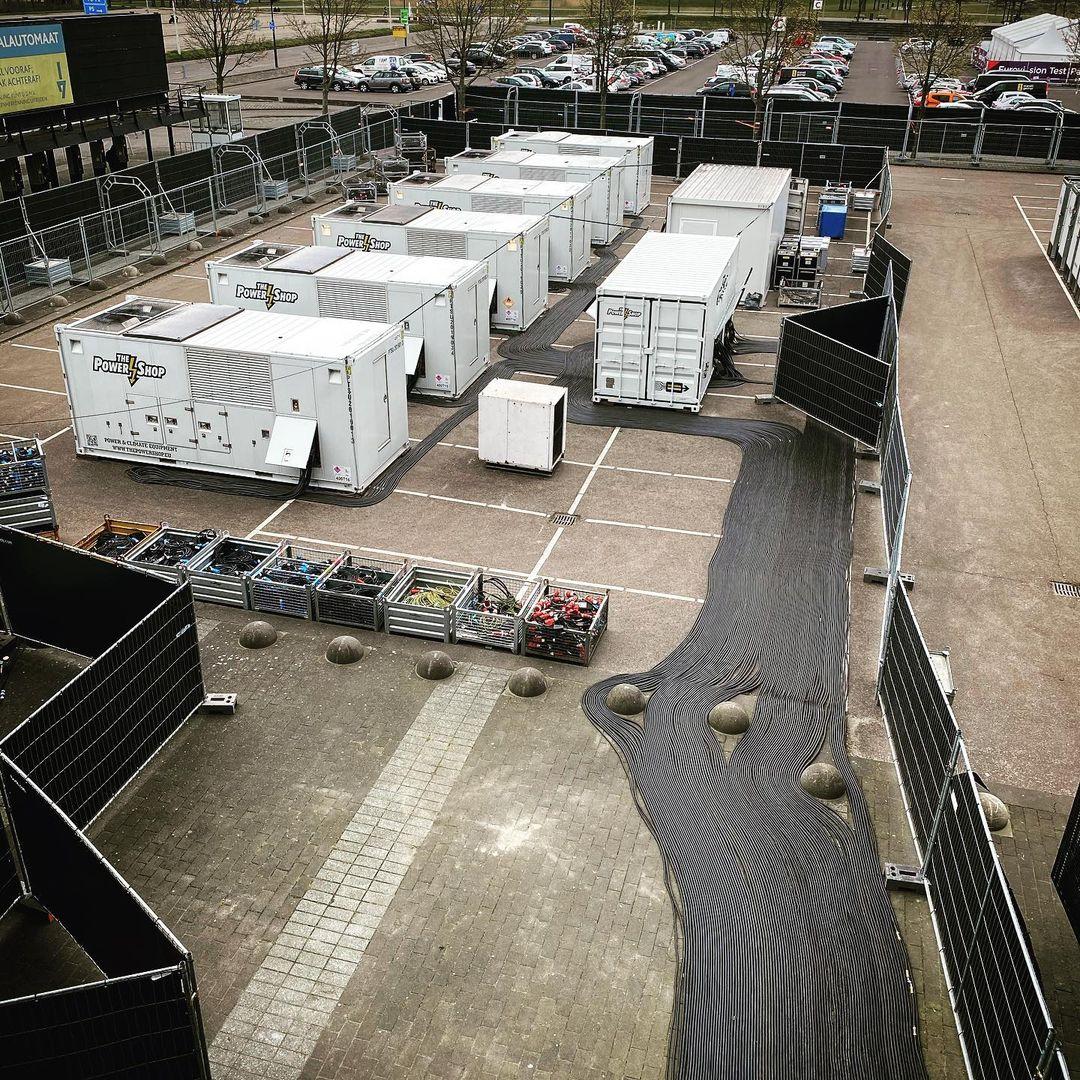 Eurowizja 2021, Rotterdam Ahoy, generatory prądu