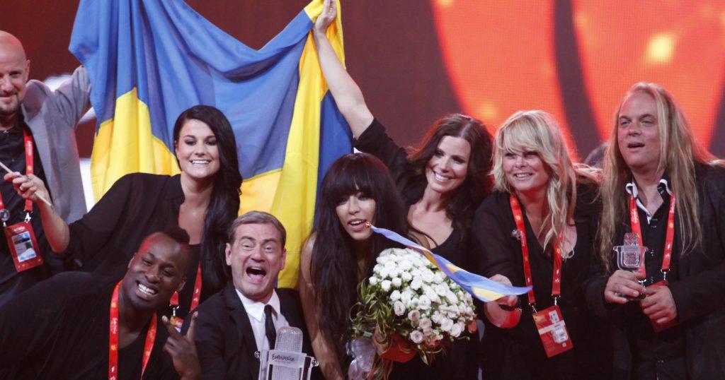 Delegacja szwedzka po wygranej / Eurowizja 2012 (fot. Eurovision.tv)