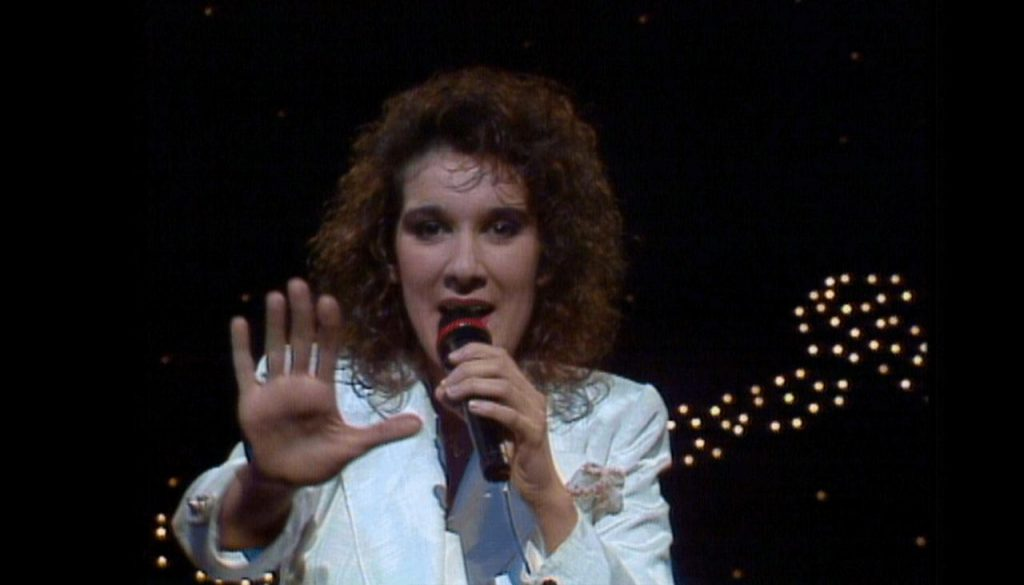 Eurowizja 1988: Céline Dion (Szwajcaria) na scenie w Dublinie