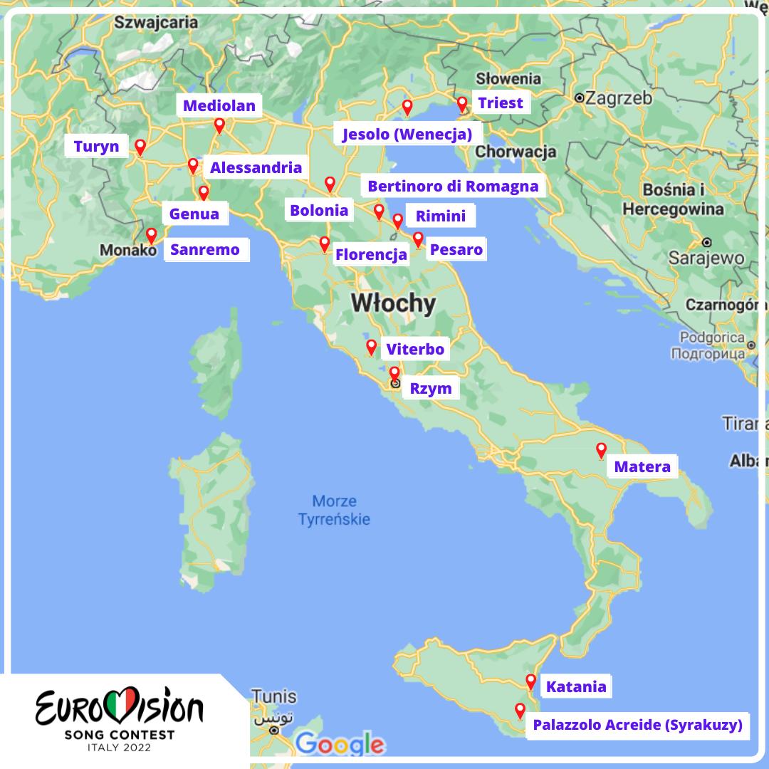 Eurowizja 2022, lokalizacje