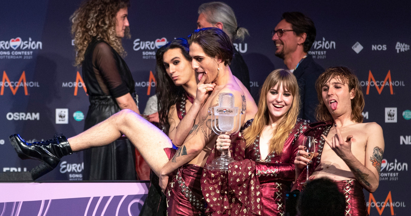 Måneskin, Eurowizja 2021, konferencja