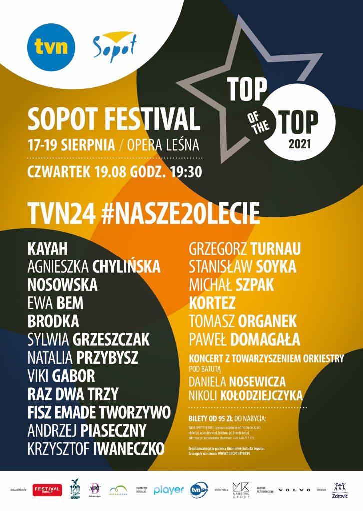 Top of the Top Sopot Festival 2021, plakat 3