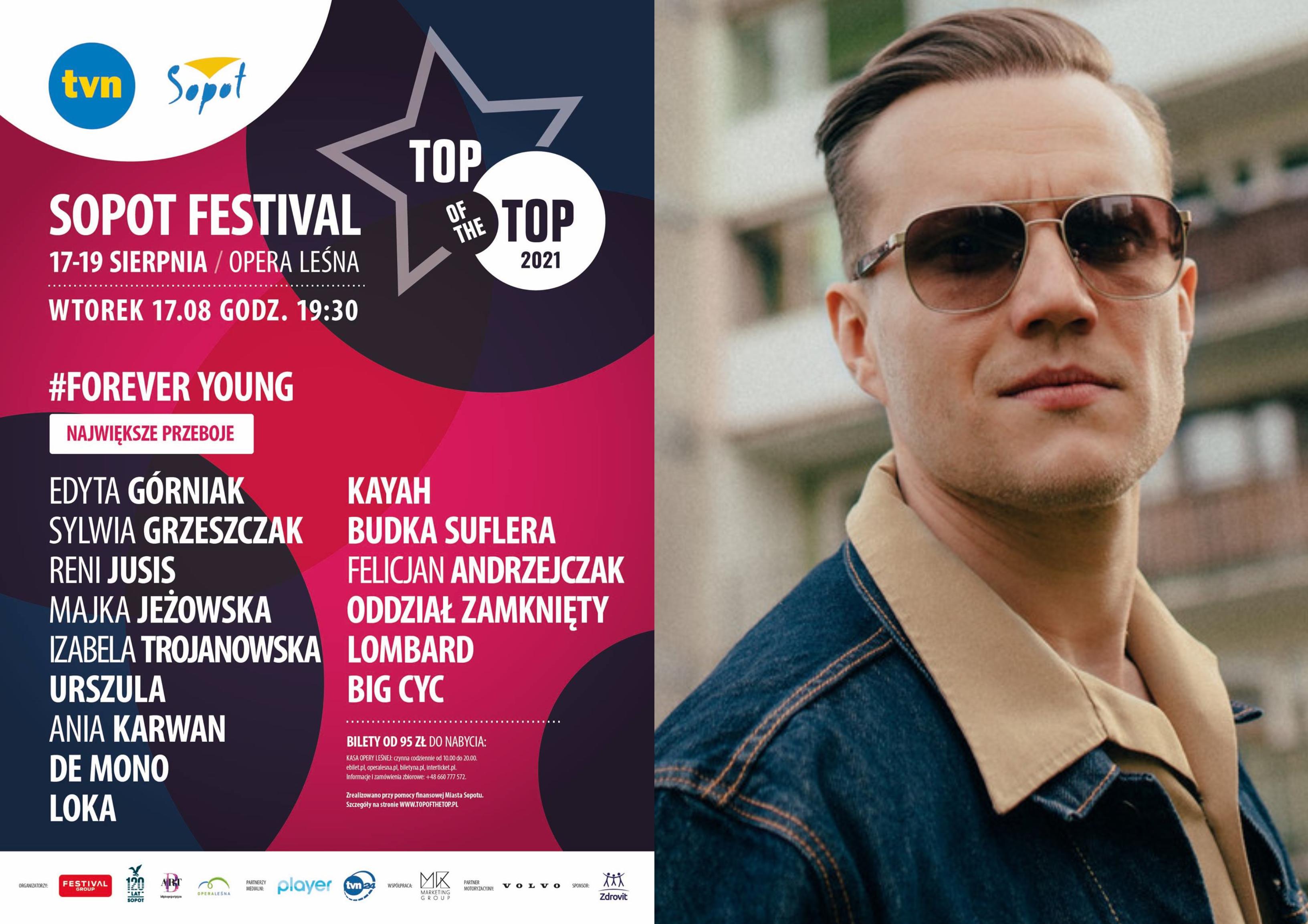 TOP OF THE TOP Sopot Festival 2021: Wtorek 17.08 o godz. 19:30: #FOREVER YOUNG & #I LOVE SOPOT / fot. Facebook.com (@SopotTopOfTheTopFestival)