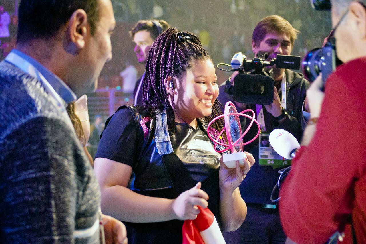 Eurowizja Junior 2015: Destiny po wygranej (fot. JuniorEurovision.tv)