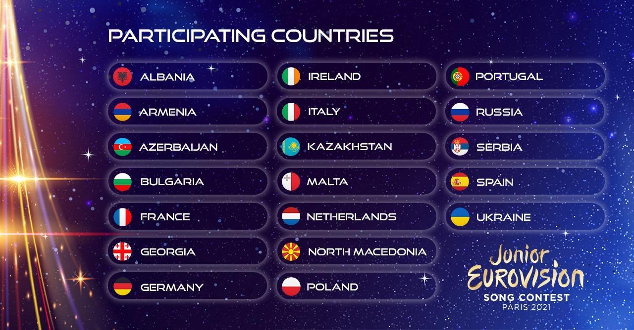 Eurowizja Junior 2021, uczestnicy