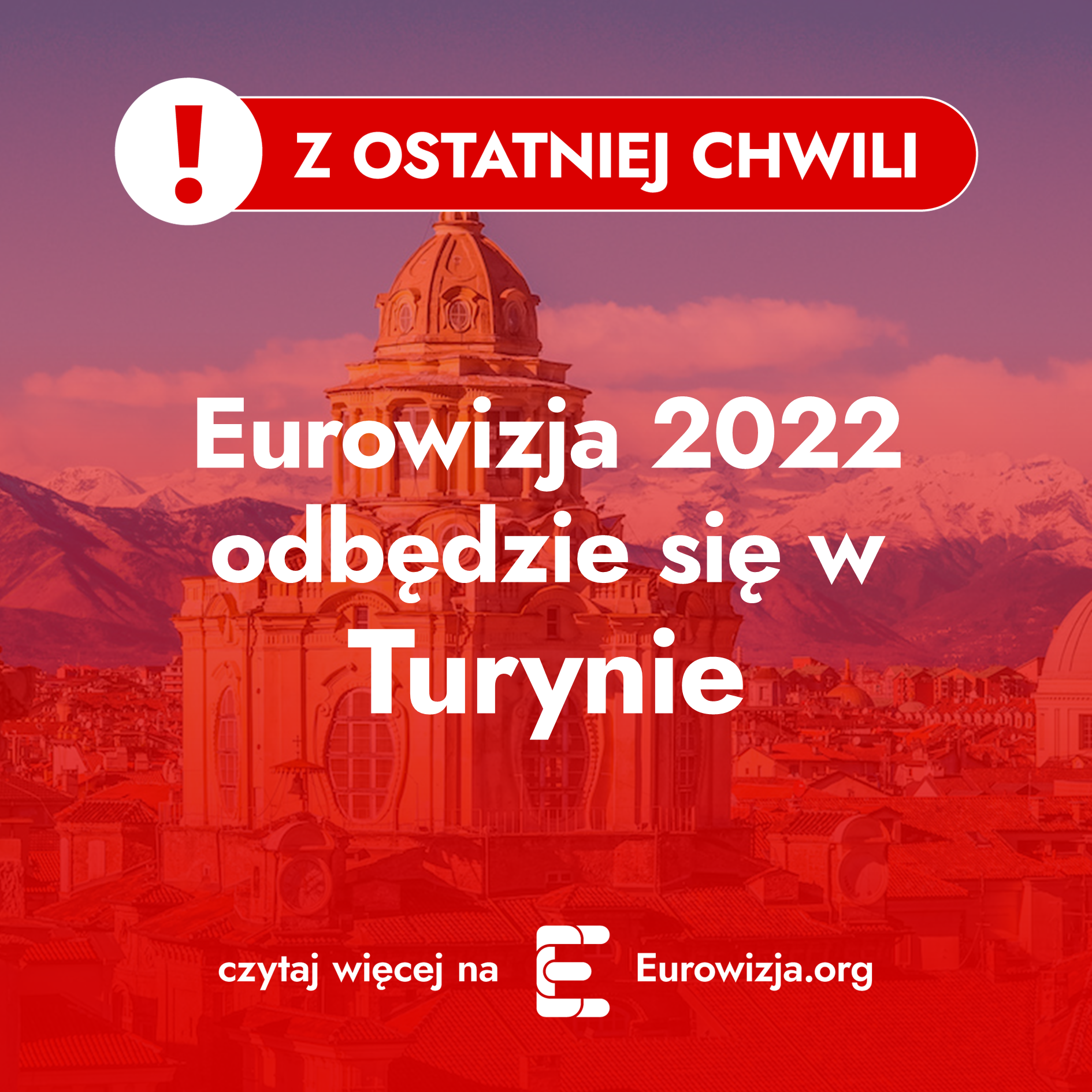 Eurowizja 2022, Turyn, ogłoszenie